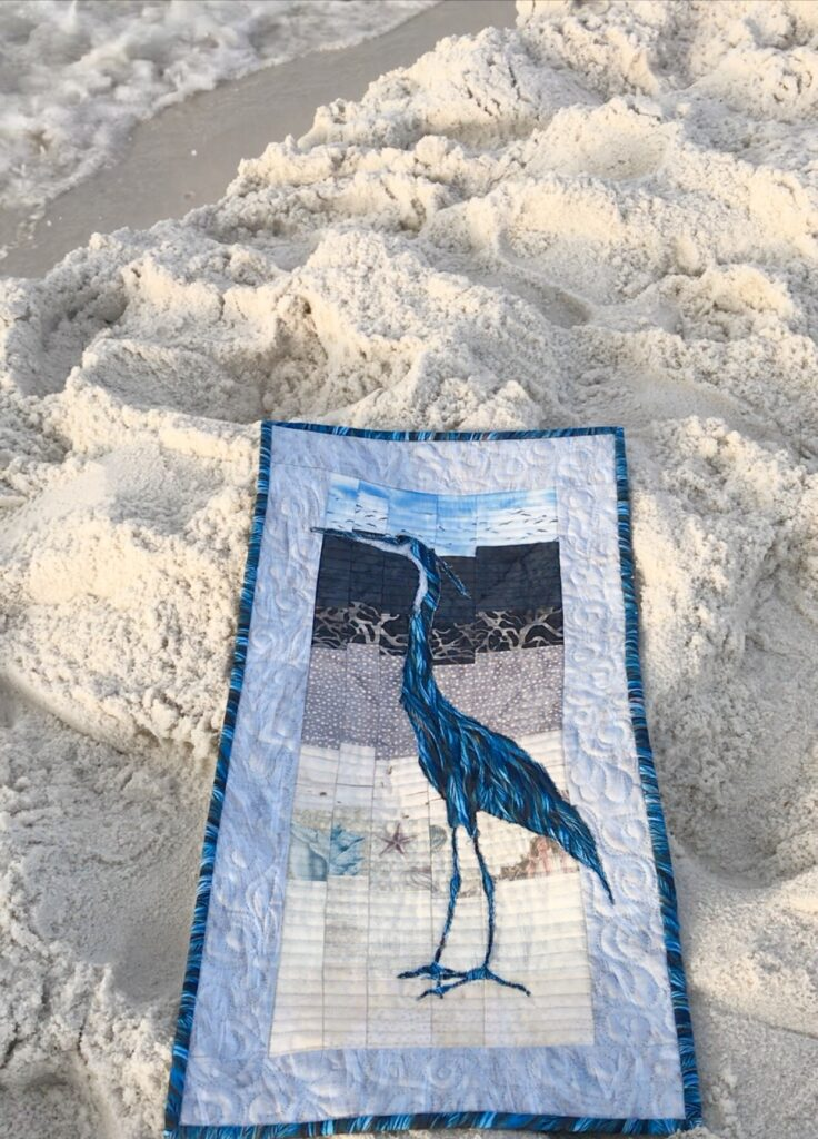 Image of Great Blue Heron Quilt