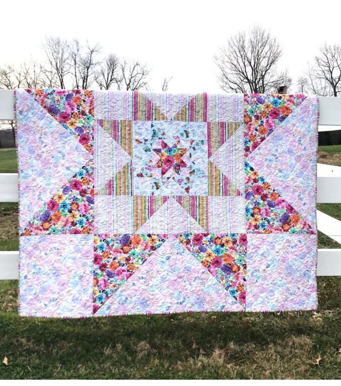 Image of Pieced Variable Star Quilt