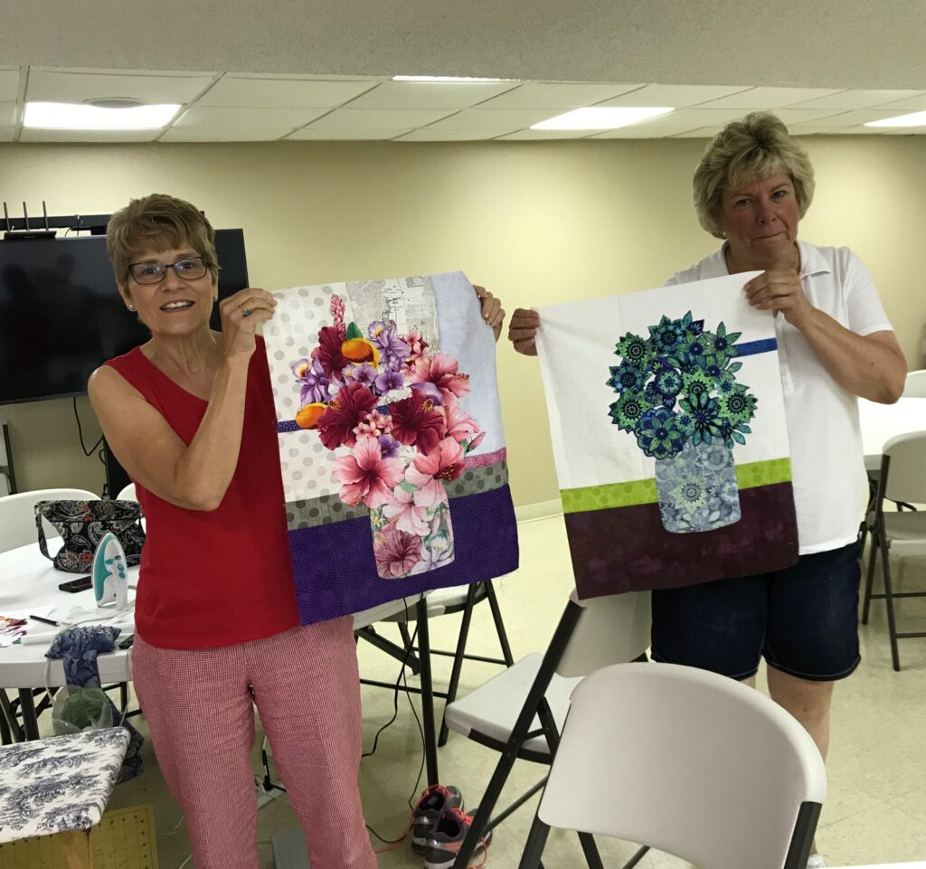 Image of Quilters with Projects