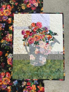 Image of Watering Can Bouquet Quilt