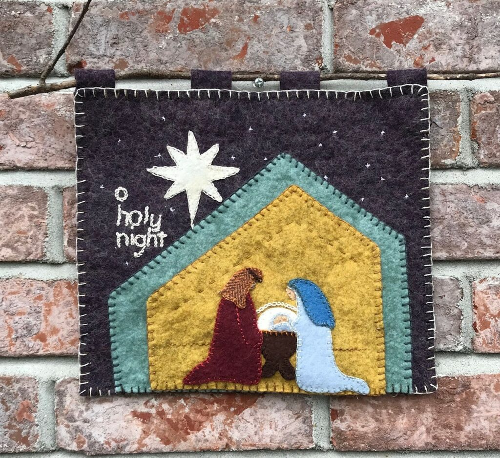 Image of Nativity Wool Applique