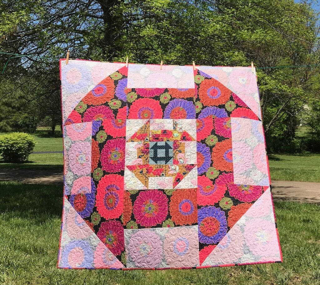 Image of Quilt showing how I use both beautiful sides