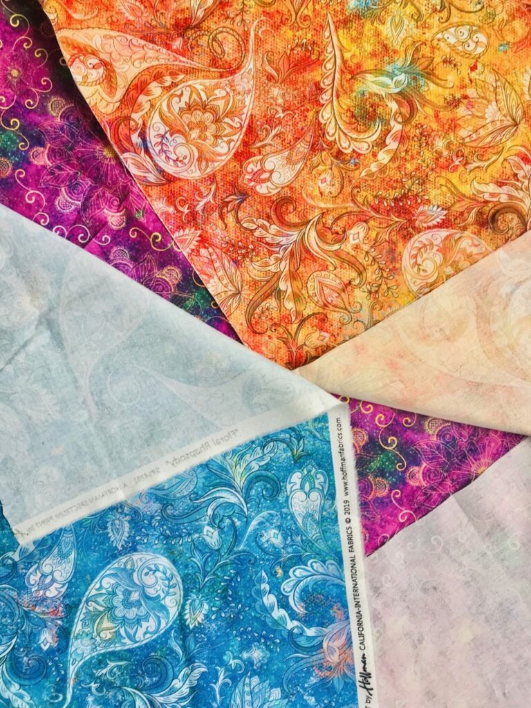 Image of how to use both beautiful sides of Hoffman Fabrics
