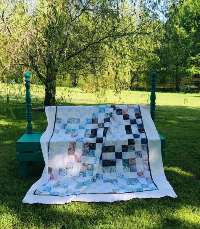 Treasures Quilt made with Hoffman Fabrics