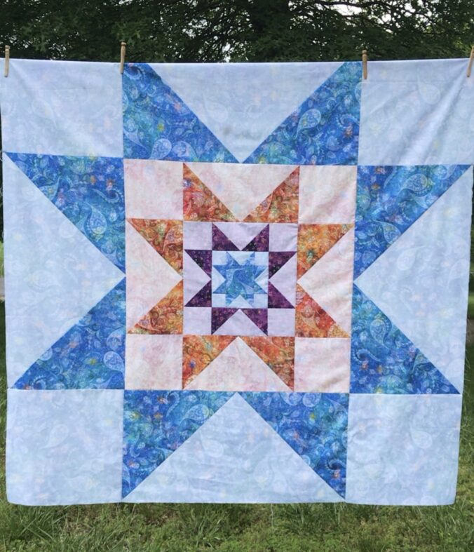 Use Three Beautiful Fabrics in this Quilt!