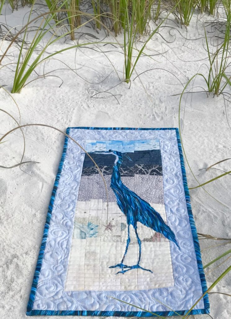 Image of a great blue quilt