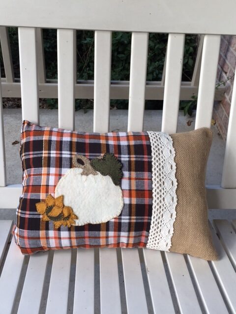 Pic of Free Wool Applique Pattern Pillow