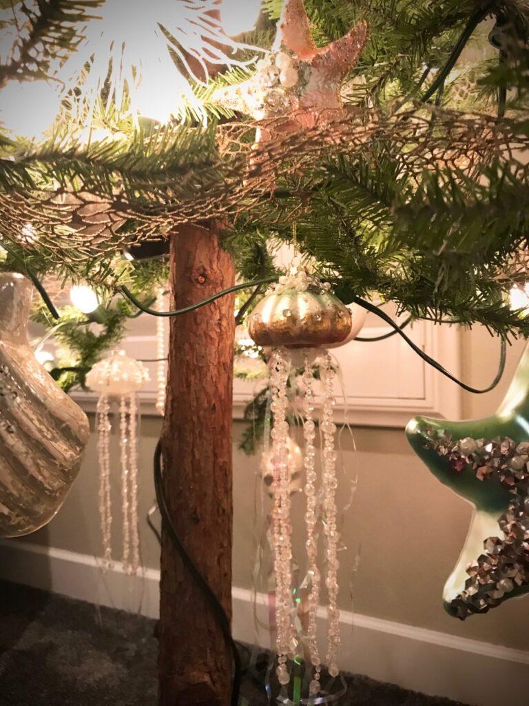 Image of coastal christmas ornaments