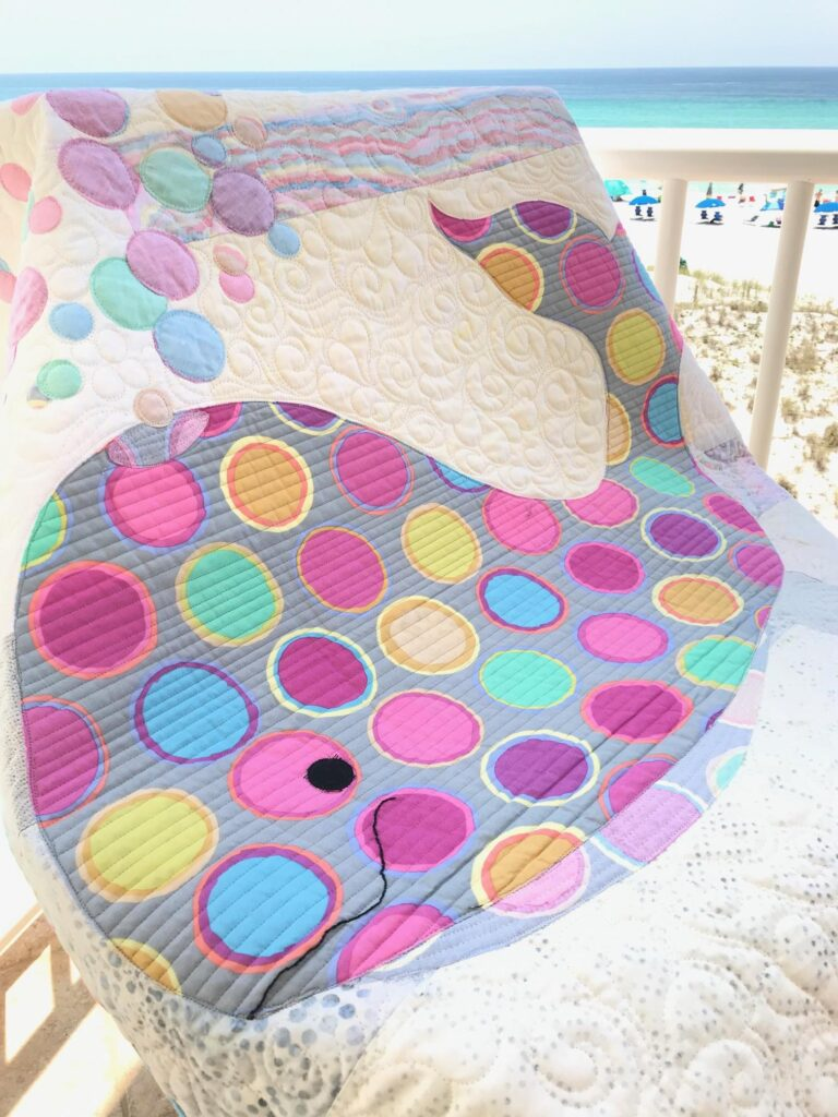 Image of Bubbles with scrappy background fabrics