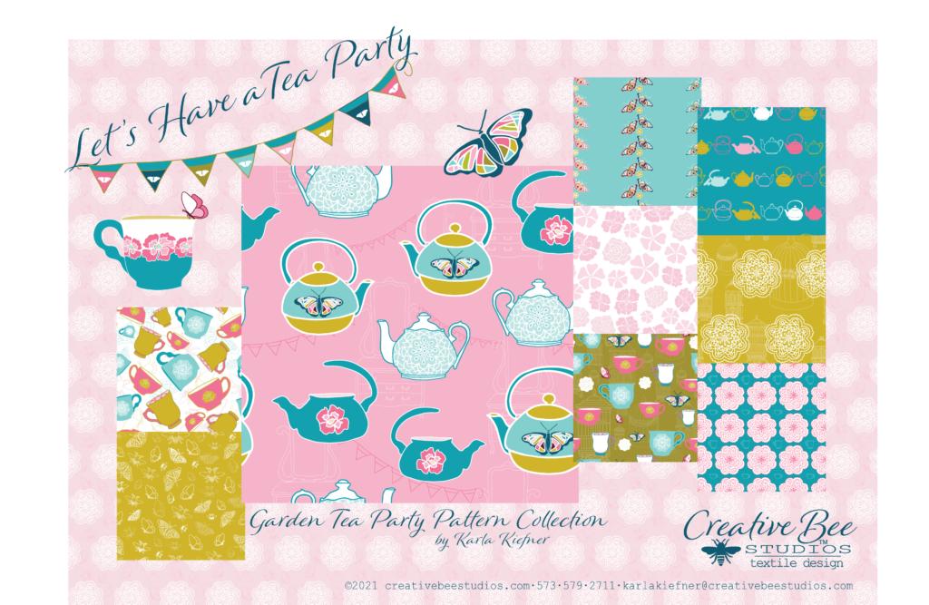 Image of Garden Tea Party Textile Designs