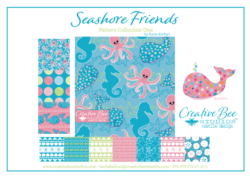 Seashore Friends Pattern Collection One