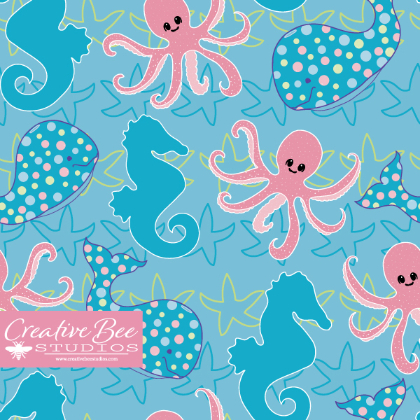 Image of Seashore Friends Pattern Collection
