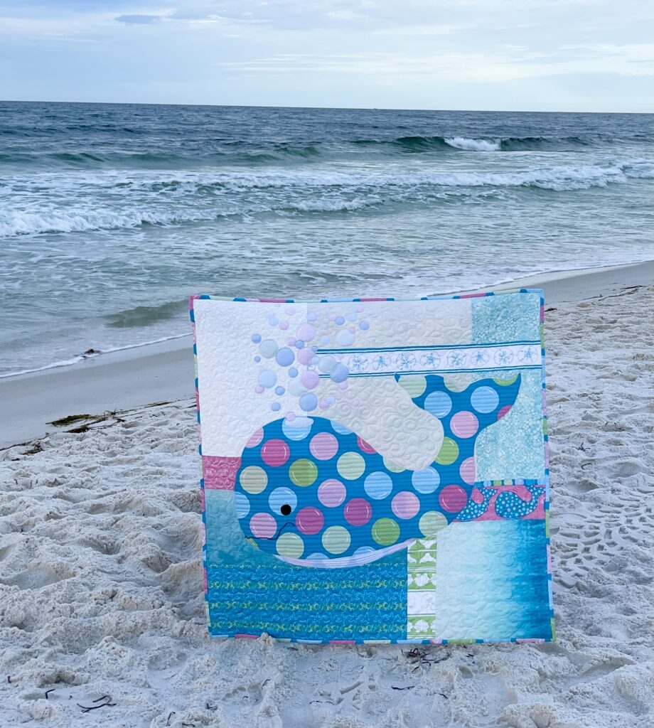 image of bubbles quilt on beach
