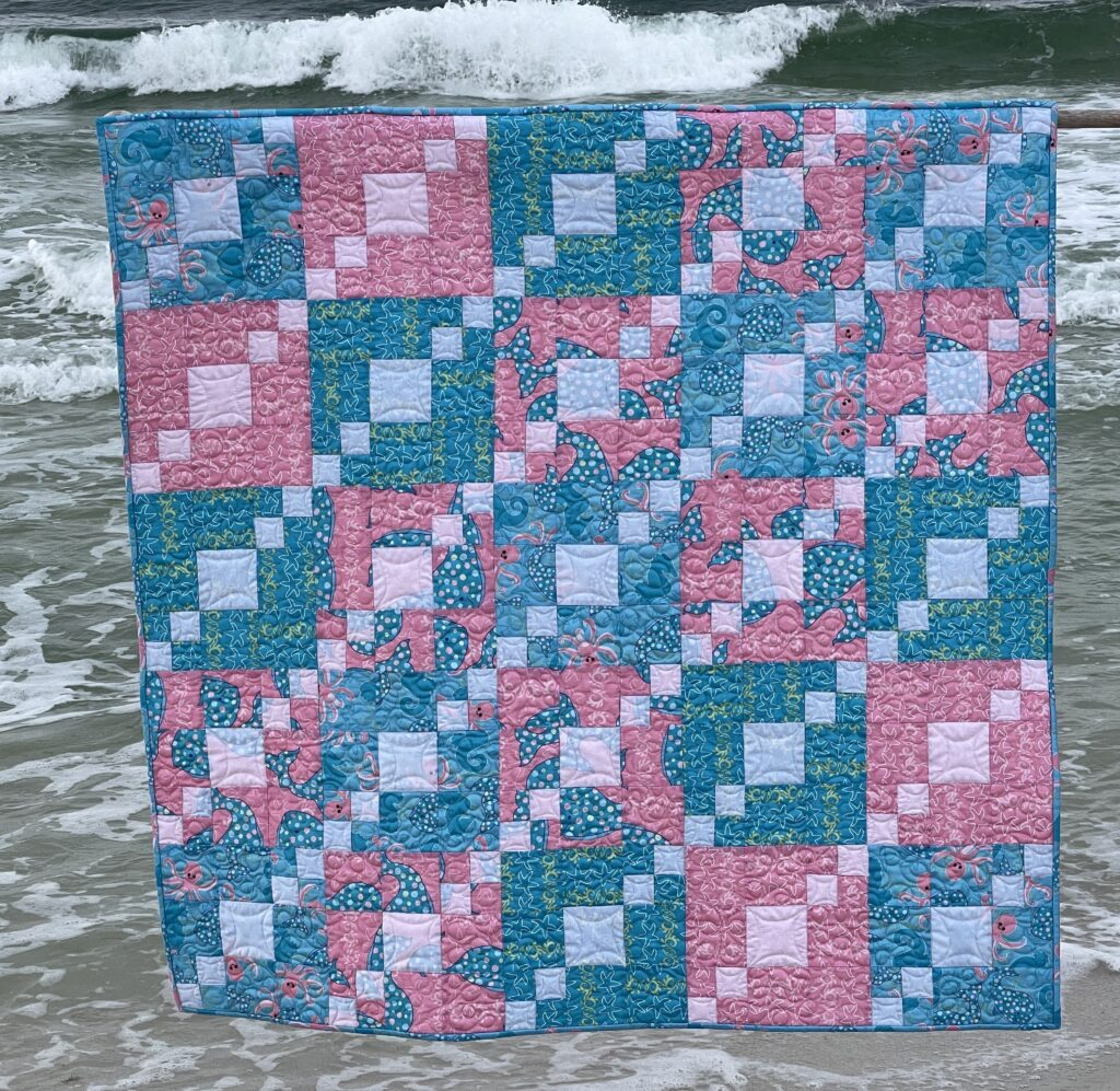 Seashore Friend Baby Quilt