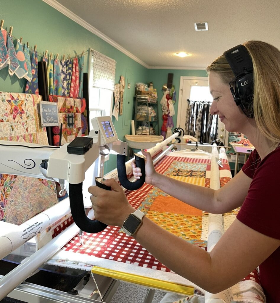 Image of Paige quilting