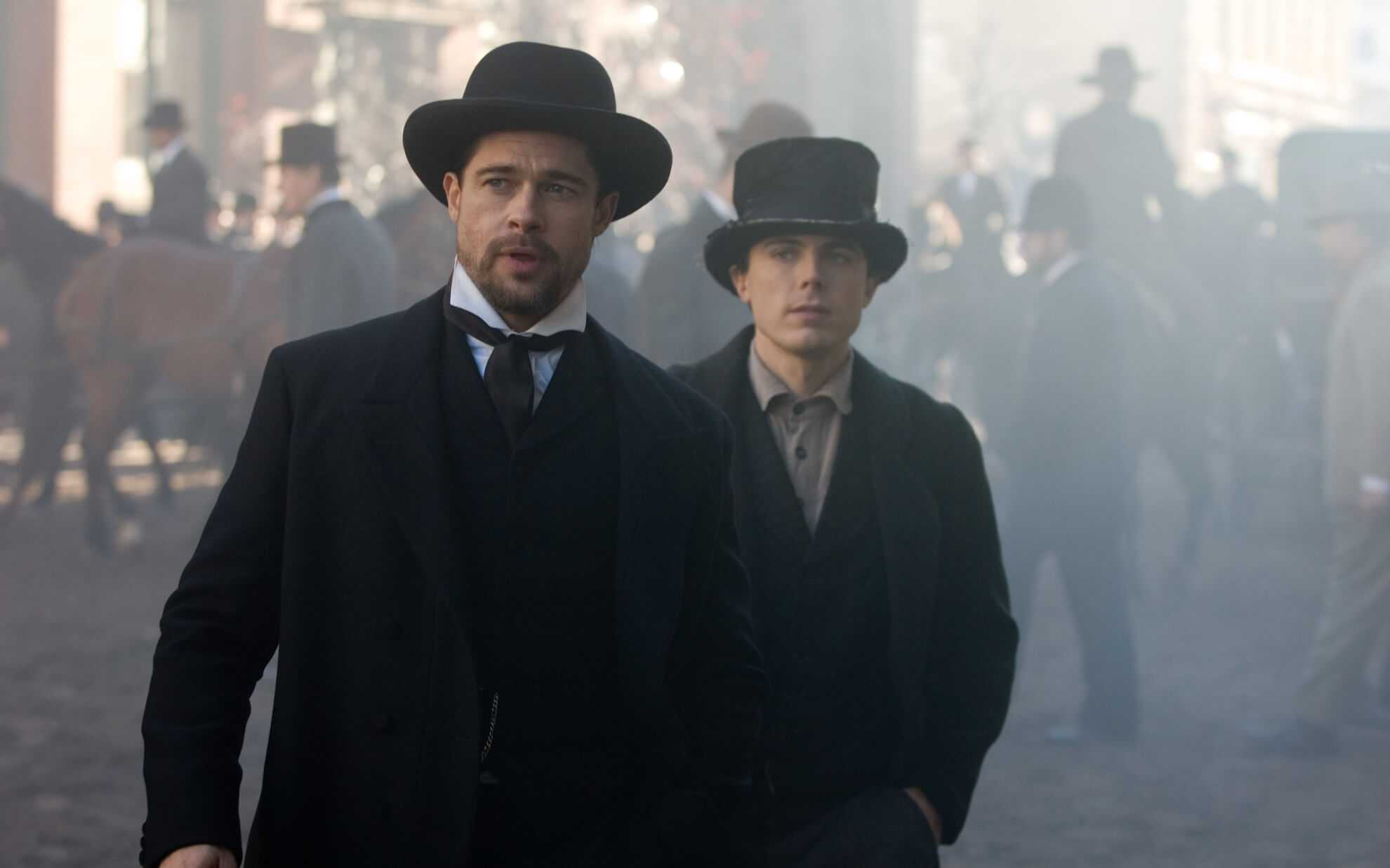 Brad Pitt and Casey Affleck in The Assassination of Jesse James by the Coward Robert Ford