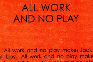 1980 Fan made all work and no play book