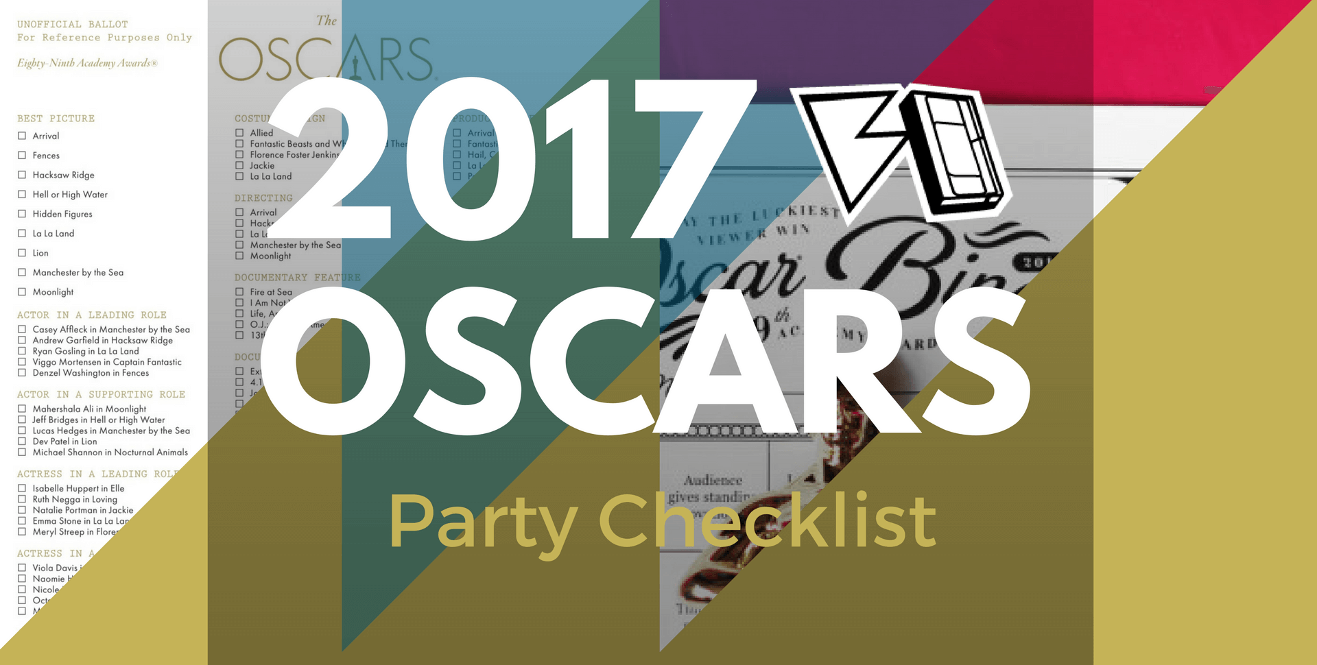 Party Checklist for 89th Academy Awards 2017