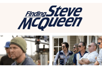 Image of interview from Finding Steve McQueen with director Mark Steven Johnson
