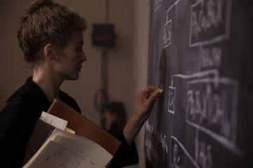 Rosamund Pike in Radioactive - Blackboard