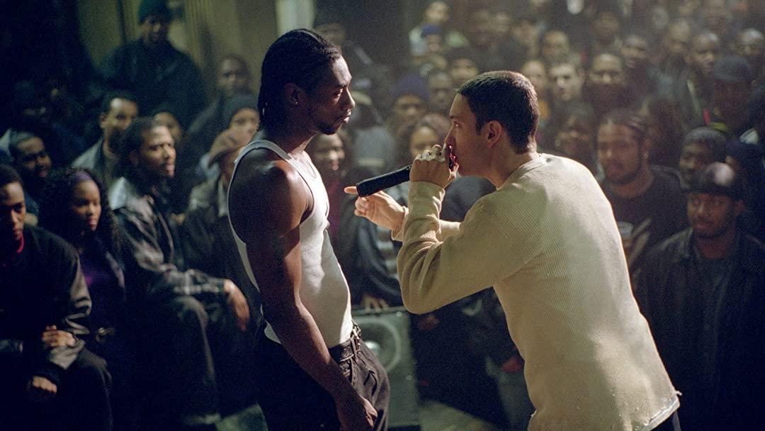 Eminem rap battles in 8 Mile (2002)