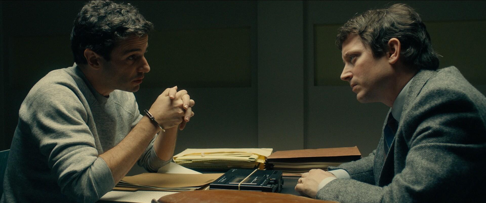 Luke Kirby as Ted Bundy and Elijah Wood as FBI Agent Bill Hagmaier