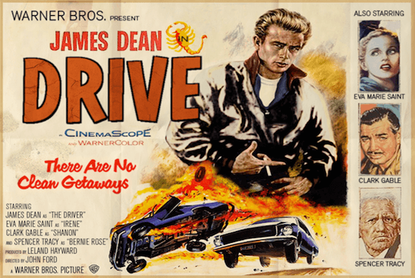 Drive (2011)- Modern Films Re-Imagined into Classic Movie Posters