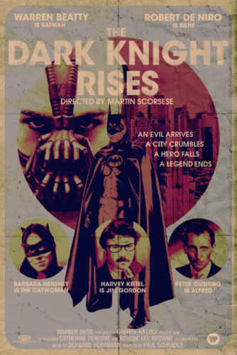 The Dark Knight Rises (2012) - Modern Films Re-Imagined into Classic Posters