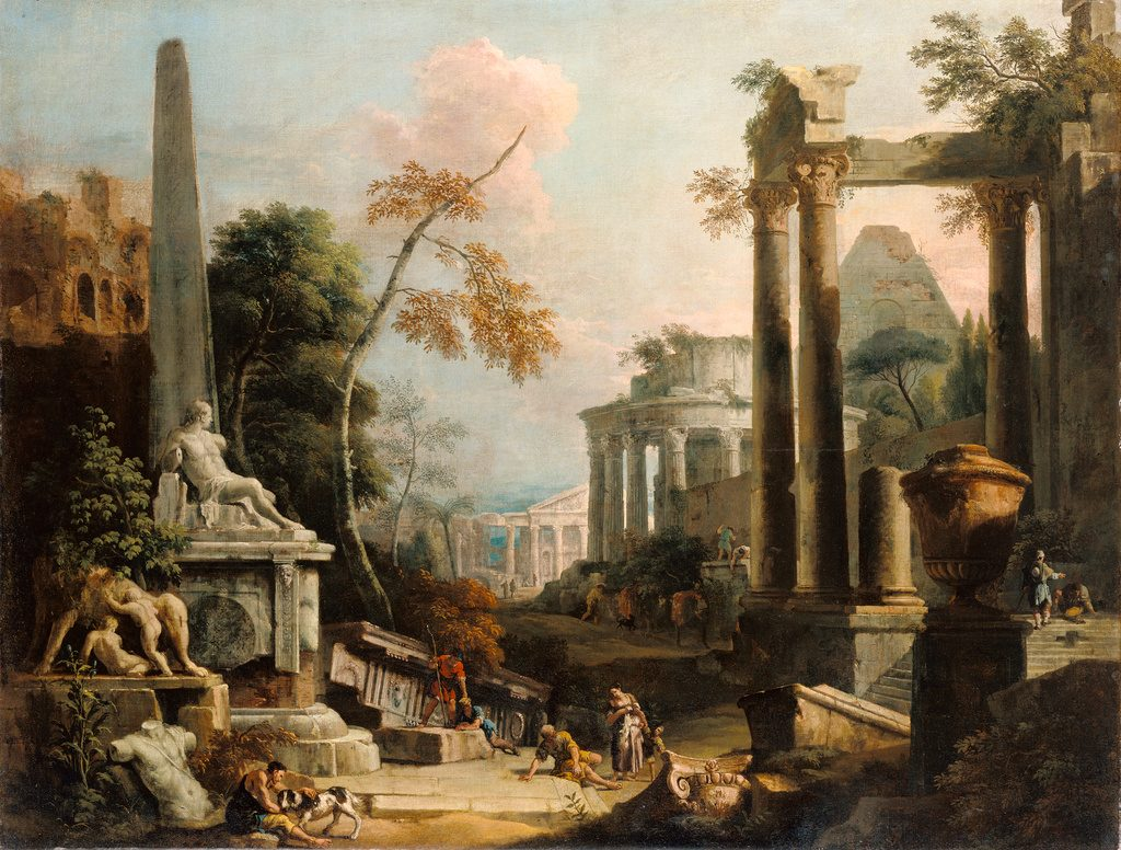 Ricci Classical Ruins and Figures