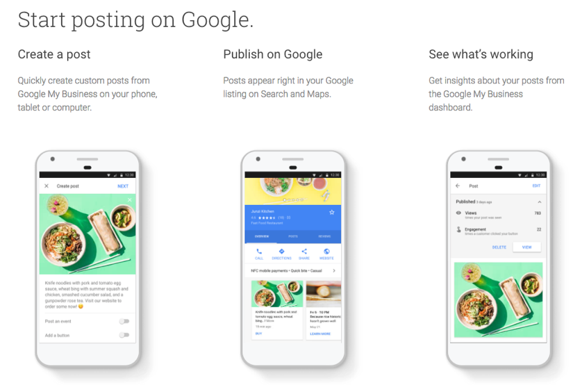 Google Posts for Local Businesses