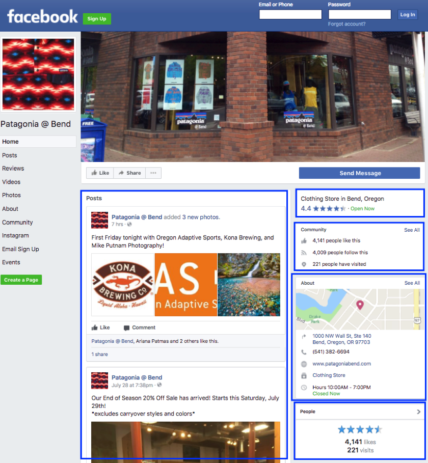 Patagonia local business social example