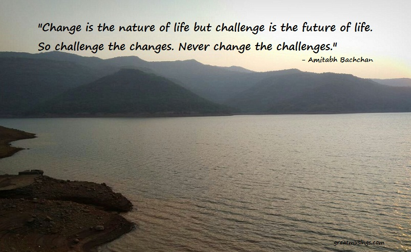 Read more about the article Amitabh Bachchan on Change and Challenge