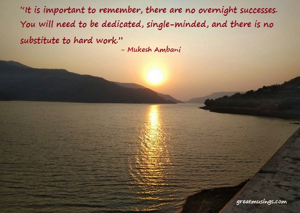 Mukesh Ambani Great Musings