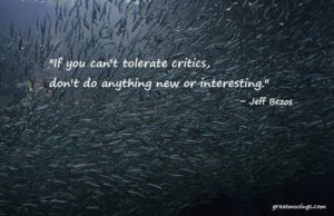 Read more about the article Jeff Bezos on Critics and Criticism