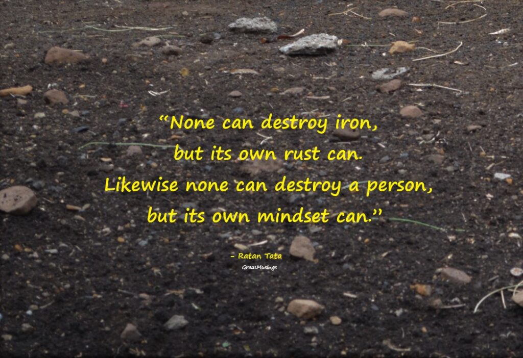 Ratan Tata quote on a pic