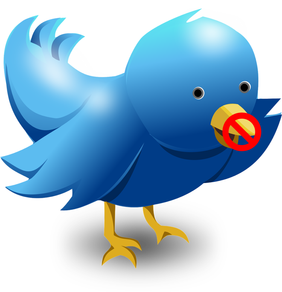 No talk Twitter bird