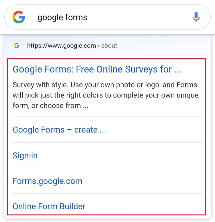 Select Google Forms