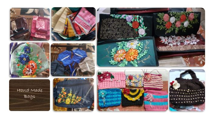 Hand made bags one of the hobbies to do from home