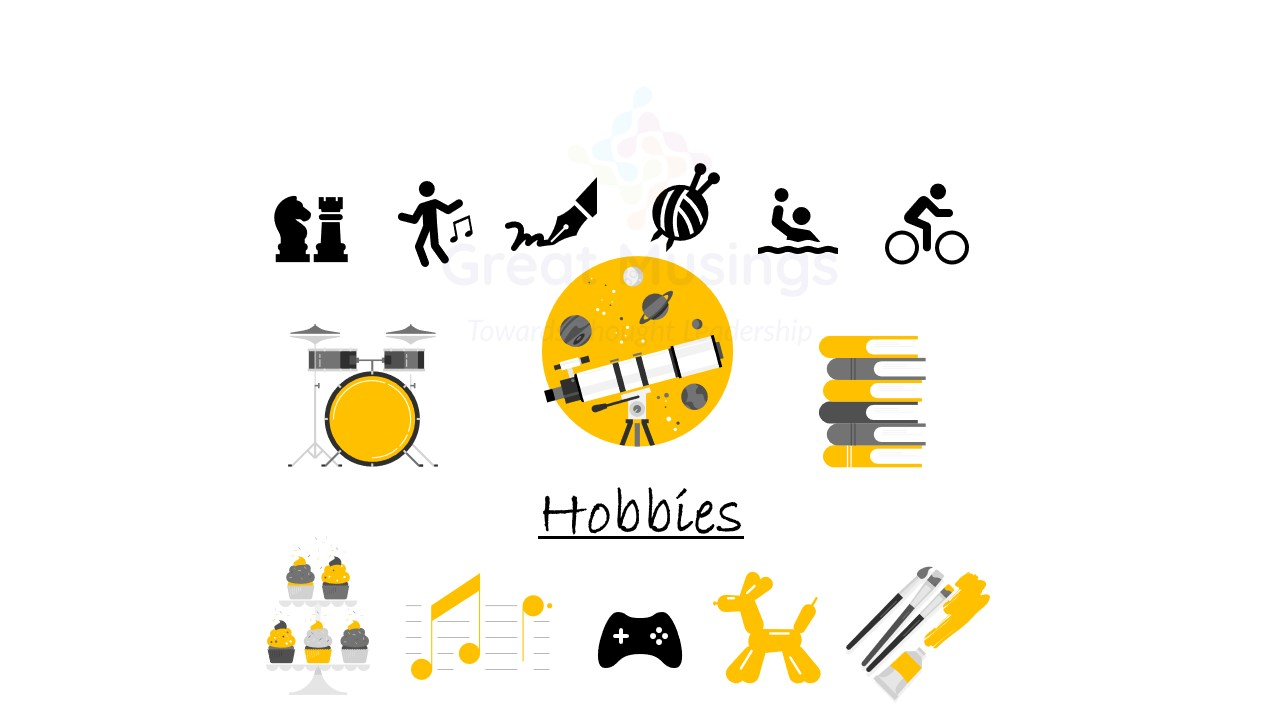 icons for finding a new hobby