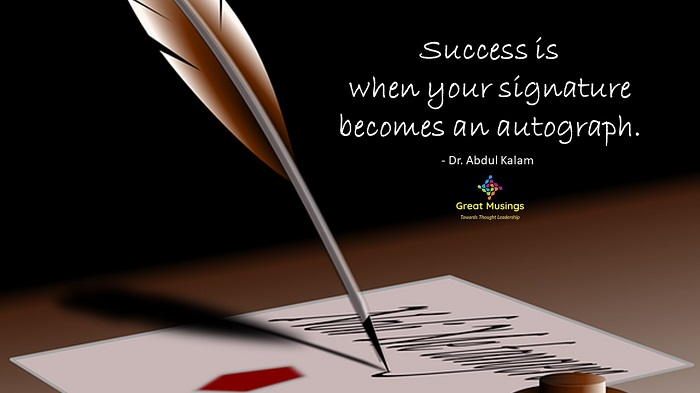 Dr. Abdul Kalam Quotes on a Pic with paper and quill