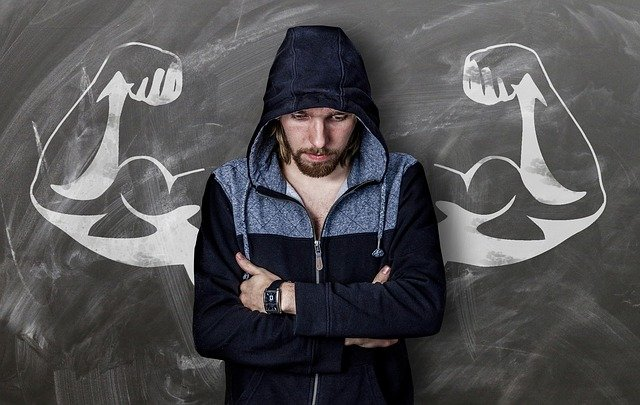 Person depicting willpower