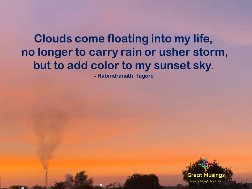 Rabindranath Tagore Clouds Quotes