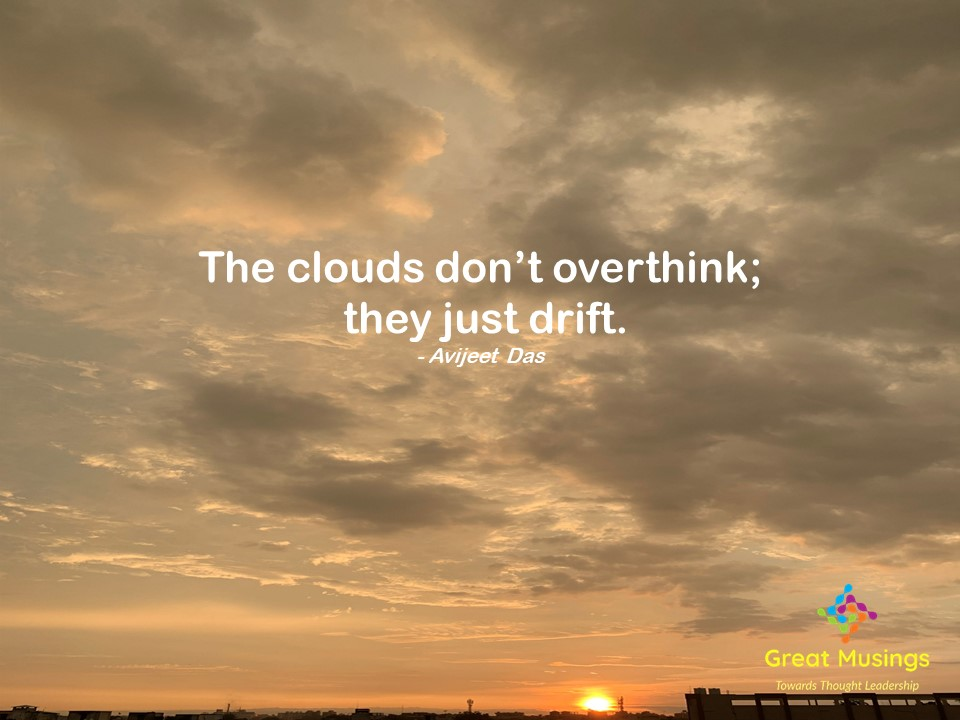 Avijeet Das Clouds Quotes in a sunset pic