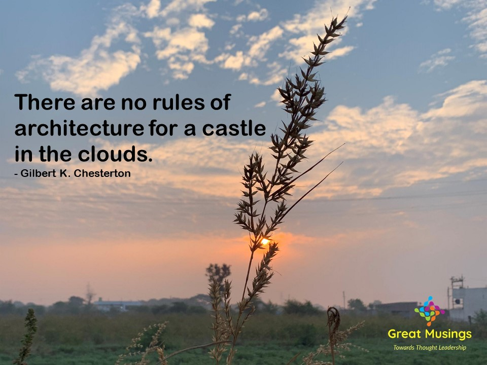 Gilbert K. Chesterton Clouds Quotes in a beautiful sunrise pic