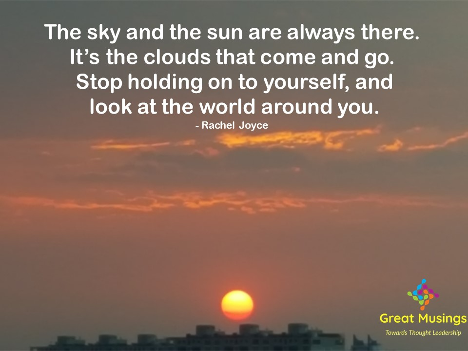 Rachel Joyce Clouds Quotes in pic with sun