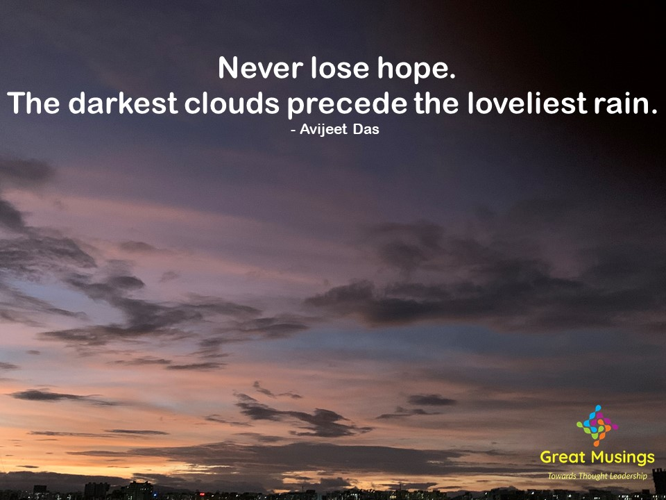 Avijeet Das Clouds Quotes in a colorful cloudy pic