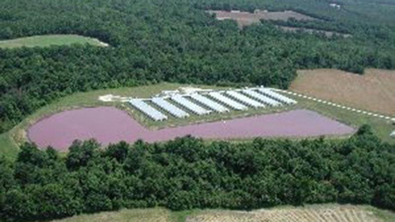 clean waste lagoon