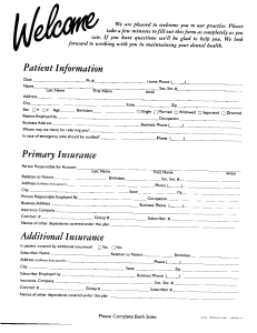 Welcome Forms 1 of 2