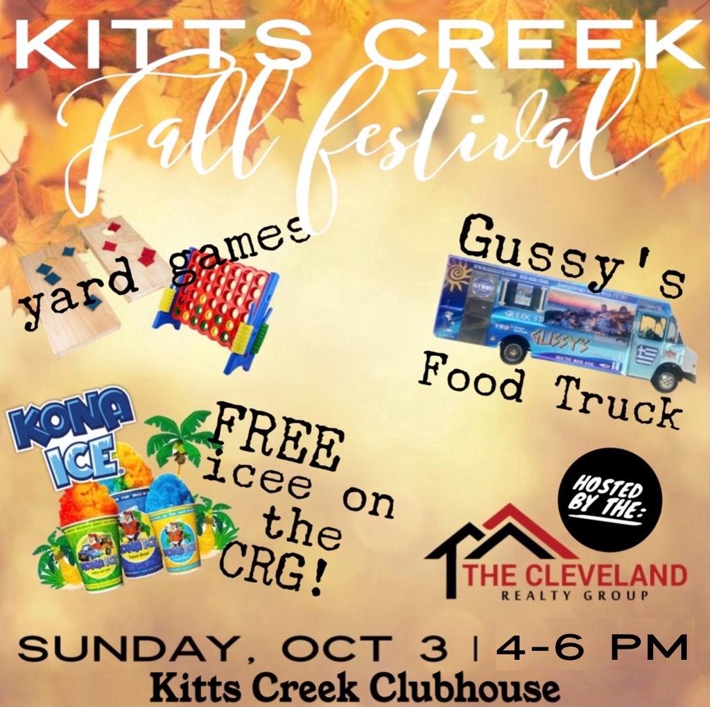Kitts Creek Fall Festival sponsored by CRG