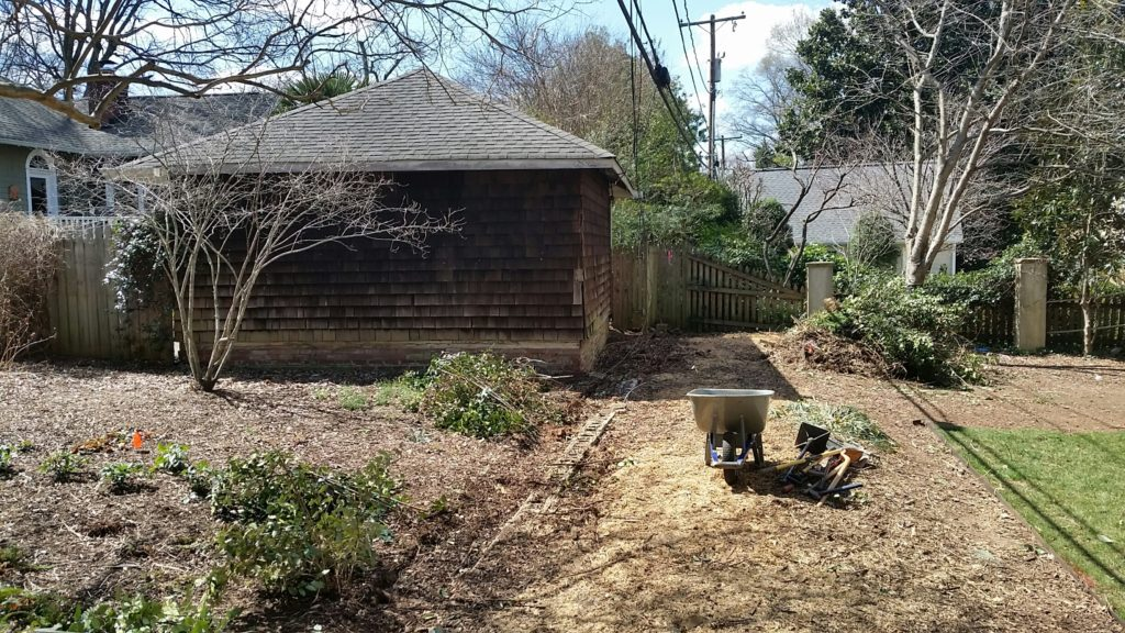 After existing fence was removed